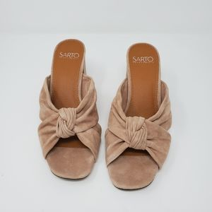 New in Box Blush Pink suede sandals